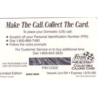 1994 Ernie Irvan Finish Line Gold Calling Card Intact PIN /3000