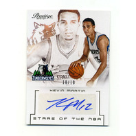 2013-14 Prestige Stars of the NBA Signatures #51 Kevin Martin /10
