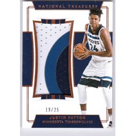 2018 Justin Patton National Treasures Relic /25