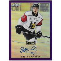 Brett Crossley-Auto-2017 Leaf Metal Prismatic Purple #2/15 Halifax Mooseheads (x)