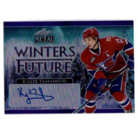Kailer Yamamoto 2016-17 Leaf Metal Winters Future Purple Prismatic Autograph /10