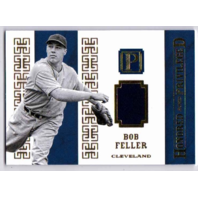 Bob Feller 2016 Pantheon Honored & Privileged Materials Game Used Jersey Gold/25 (x)