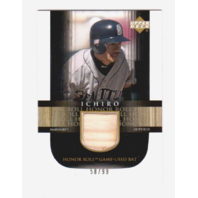 Ichiro Suzuki 2002 Upper Deck Honor Roll Game Used Bat #B11 Relic /99 Mariners (x)