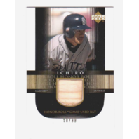 Ichiro Suzuki 2002 Upper Deck Honor Roll Game Used Bat #B11 Relic /99 Mariners