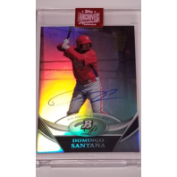 DOMINGO SANTANA 2019 Topps Archives Signature Series 1/1 (2011 Bowman Platinum)