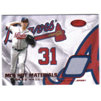 Greg Maddux 2002 Fleer Hot Prospects Hot Materials Patch Jersey Relic /50 (x)