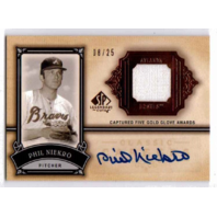 Phil Niekro 2005 SP Legendary Cuts Autograph Jersey Patch Relic /25 auto Braves