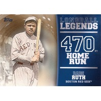 Babe Ruth 2018 Topps Longball Legends Gold Refractor #LL46 /50 Red Sox Yankees  (x)
