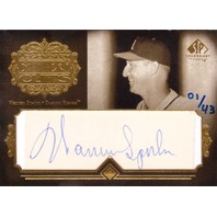 Warren Spahn  2005 UD SP Legendary Cuts Battery Cuts #WS /43 Autograph Auto HOF