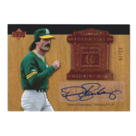 Dennis Eckersley 2005 UD Hall of Fame Essential Enshrinement Autograph /25 #DE1   (x)