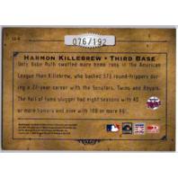 Harmon Killebrew 2004 Donruss Leather & Lumber Autograph Minnesota Twins /192
