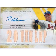 Tom Glavine 2015 Topps Triple Threads Gold Autograph Game Used Relic /9 auto HOF