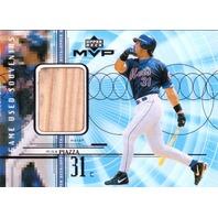 Mike Piazza 1999 Upper Deck UD MVP Game Used Souvenirs Bat Relic #GUMP