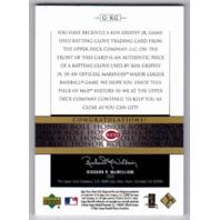 Ken Griffey Jr. 2002 Upper Deck Honor Roll Batting Gloves Patch Relic #GKG /250