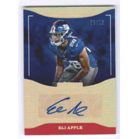 Eli Apple 2016 Donruss Signature Series Holo Gold Rookie Autograph #202 RC /15  (x)