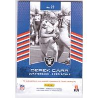 Derek Carr 2017 Donruss Elite Pro Bowl Standouts Jersey Prime Patch Relic /55