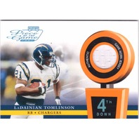 LaDainian Tomlinson 2002 Playoff Piece of the Game Materials 4th Down Patch /25  (x)