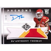 De'Anthony Thomas 2014 Limited Silver Spotlight Phenoms Rookie Auto Patch RC /49
