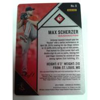 Max Scherzer 2019 Panini Chronicles #8 Black Printing Plate 1/1 Blasting Off