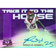 Ronald Jones II 2018 Leaf Valiant Take it to the House Purple Autograph 15/15  (x)