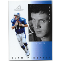 Drew Bledsoe / Brett Favre 1997 Pinnacle Team Pinnacle Mirrors #2 Packers / Pats  (x)