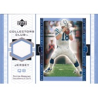 Peyton Manning 2002 Upper Deck UD Collector's Club Jersey Patch Memorabilia #PMJ  (x)