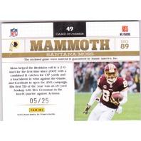 Santana Moss 2012 Panini Playbook Platinum Mammoth Jersey Patch Memorabilia /25