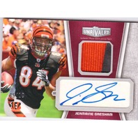 Jermaine Gresham 2010 Topps Unrivaled Autograph Rookie Patch Relic Red RC /10  (x)