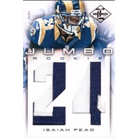 Isaiah Pead 2012 Limited Rookie Jumbo Jersey Number Prime Patch Relic #13 RC /49  (x)
