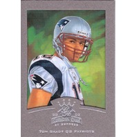 2002 Tom Brady Gridiron Kings Silver Framed #55 Painting Card /400