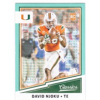 David Njoku 2017 Timeless Classics Blue Rookie 297 RC/10 Miami Hurricanes Browns