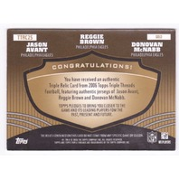 Donovan McNabb Jason Avant Reggie Brown 2006 Topps Triple Threads Gold Relic /9