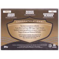 Donovan McNabb Jason Avant Reggie Brown 2006 Topps Triple Threads Gold Relic /9  (x)