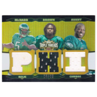 Donovan McNabb Jason Avant Reggie Brown 2006 Topps Triple Threads Gold Relic /9  (x)
