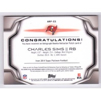 2014 Charles Sims Topps Platinum Refractor Autograph Rookie Patch Relic auto RC