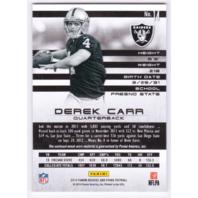 Derek Carr 2014 Panini Rookies & Stars Longevity Rookie Jersey Relic #14 RC /299