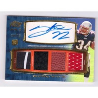 Stevan Ridley 2011 Topps Prime Gold Level 3 Autograph Rookie Quad Relic RC /25