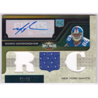 Mario Manningham 2008 Topps Triple Threads Sepia Rookie Autograph Relic RC /75  (x)