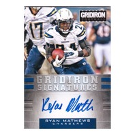 Ryan Mathews 2012 Panini Gridiron Signatures Autograph #48 auto /25 Eagles Chargers  (x)
