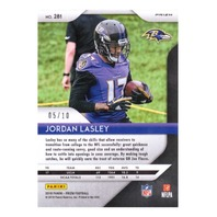 Jordan Lasley 2018 Panini Prizm Gold #281 Rookie RC /10 Ravens UCLA Bruins