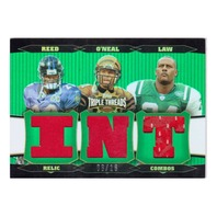 Ed Reed Deltha O'Neal Ty Law 2006 Topps Triple Threads Relic Combo #7 Emerald/18