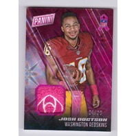 2016 Josh Doctson Panini Day Breast Cancer Awareness Patch Relic #3 Rookie RC/25  (x)