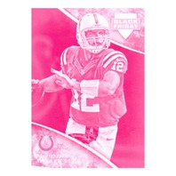 Andrew Luck 2013 Panini Black Friday Collection Make Ready Magenta 15 Blank Back