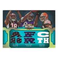 A.J. Green Torrey Smith Greg Little 2011 Triple Threads Relic Combos Emerald /18