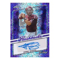 Johnny Manziel 2018 Leaf Flash Flashbacks Autograph #FJM1 Purple /10