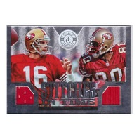 Jerry Rice Joe Montana 2013 Totally Certified Stitches in Time #42 Patch /299