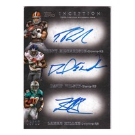 Trent Richardson David Wilson Lamar Miller 2012 Inception Triple Autograph RC/10  (x)