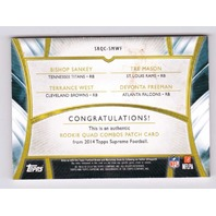 Bishop Sankey Tre Mason Terrance West Devonta Freeman 2014 Topps Supreme Quad/20