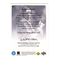 Mark Brunell 1998 Upper Deck Encore UD Authentics Autograph Blue Ink Auto