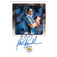 Mark Brunell 1998 Upper Deck Encore UD Authentics Autograph Blue Ink Auto